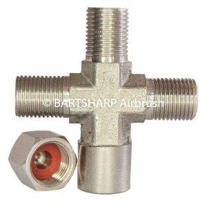 BARTSHARP Airbrush Air Hose Splitter Manifold 3 Way