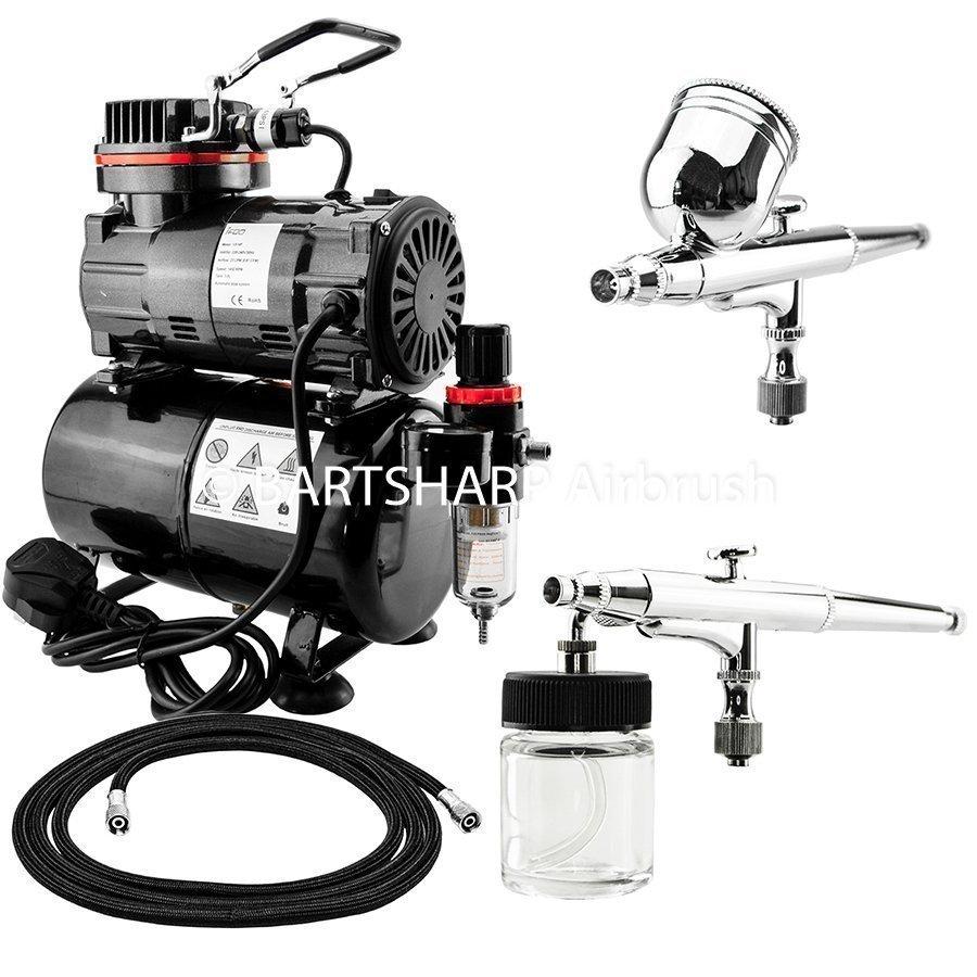 BARTSHARP Airbrush Compressor Kit TC80T 130 and 133 Airbrush