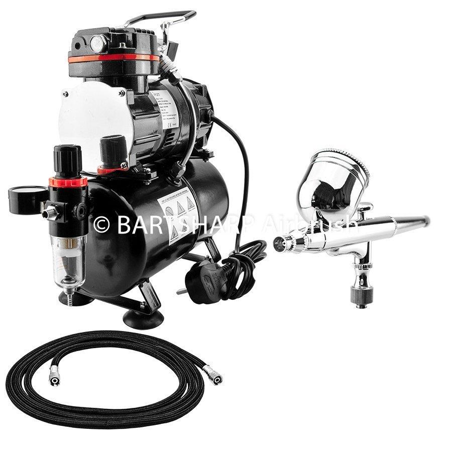 BARTSHARP Airbrush Compressor Kit TC88T 130 Airbrush