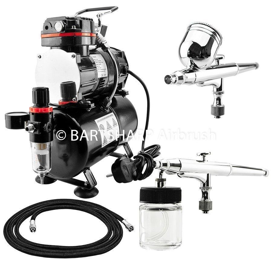 BARTSHARP Airbrush Compressor Kit TC88T 130 and 133 Airbrush