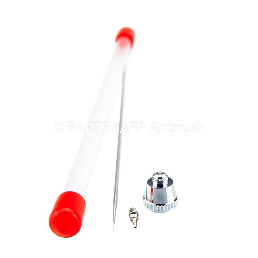 BARTSHARP Airbrush Needle Nozzle Nozzle Set Cap