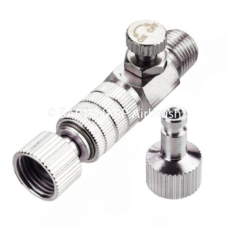 BARTSHARP Airbrush Quick Disconnect Coupler With Air Adjust