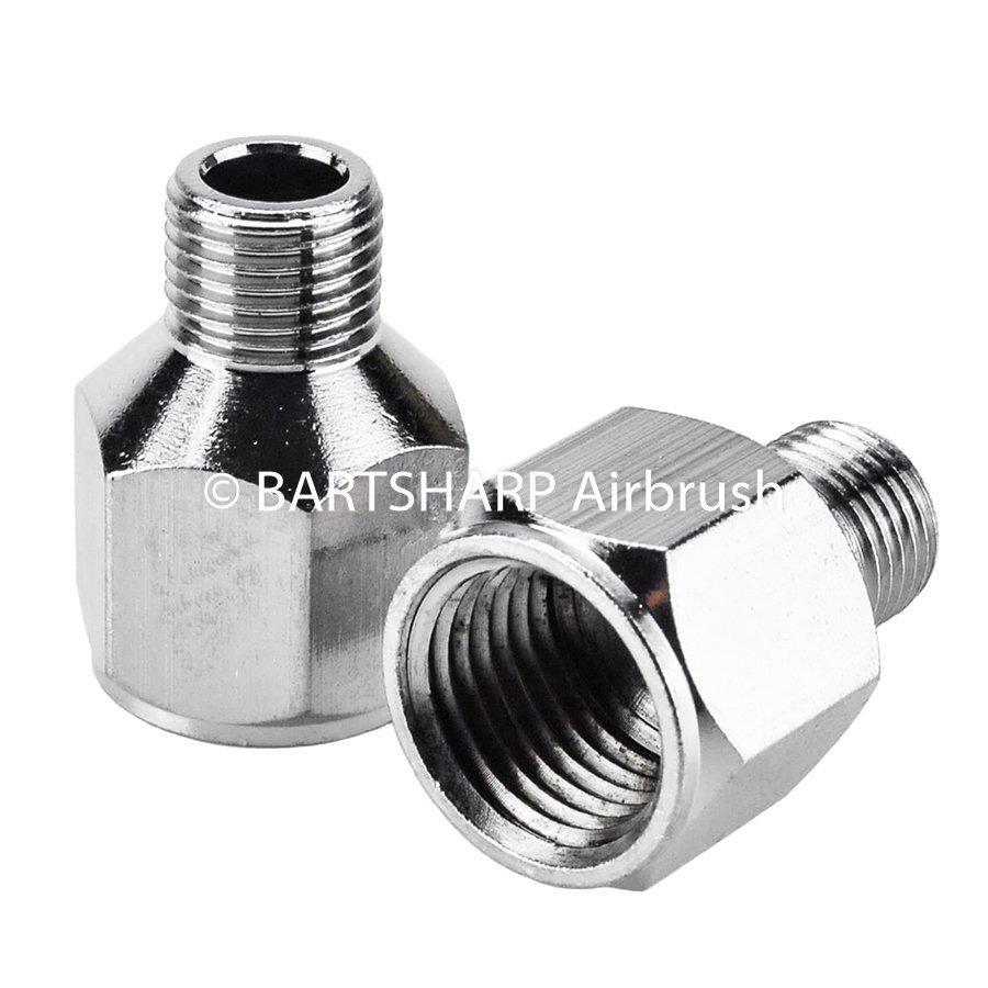 BARTSHARP Airbrush Air Hose Connector 1 Quarter BSP Female to 1 Eighth BSP Male