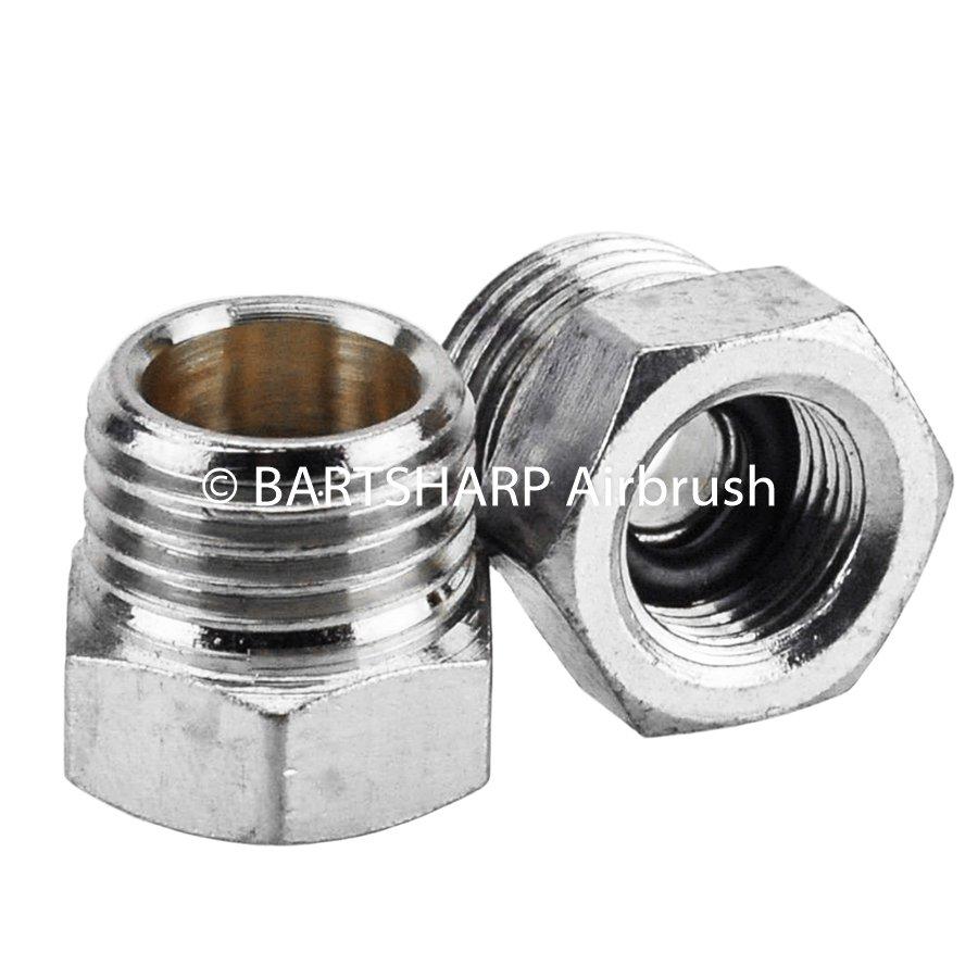 BARTSHARP Airbrush Air Hose Connector 1 Quarter BSP Male to 1 Eighth BSP Female
