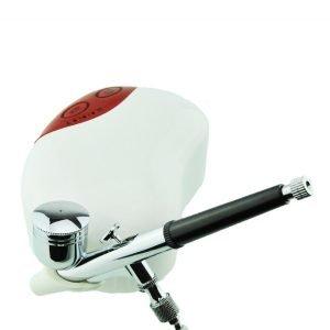 Mini Airbrush Compressor Red